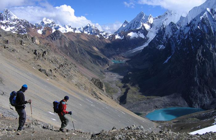 Peru, treks, climbs, hiking, - huayhuash-trek-cerro-antonio-pass