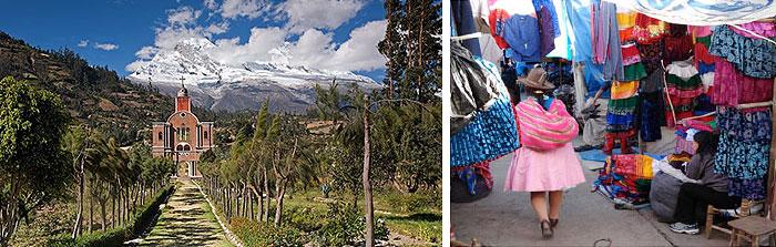 Peru, treks, climbs, hiking, - Yuangay-Memorial-Caraz-Market
