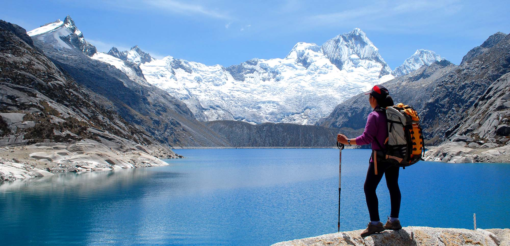 Peru, treks, climbs, hiking, - Cullicocha  Lake  (4500m)  –  Alpamayo  Circuit  Trek