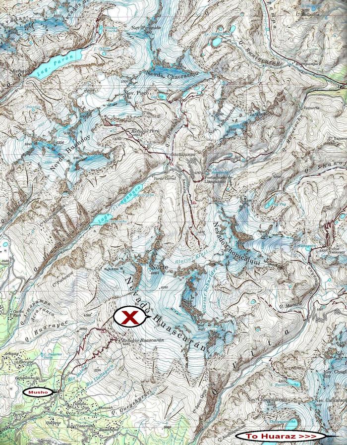 Map-Huascaran