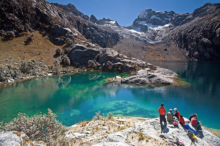 Peru, treks, climbs, hiking, - huaraz-cordillera-blanca-day-hike-Laguna-Churup