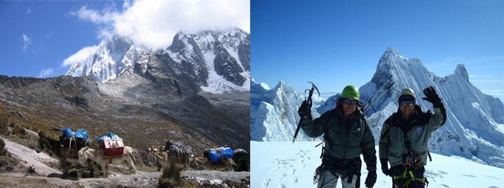 Peru, treks, climbs, hiking, - snata-cruz-trek-climb-yanapaccha-pisco