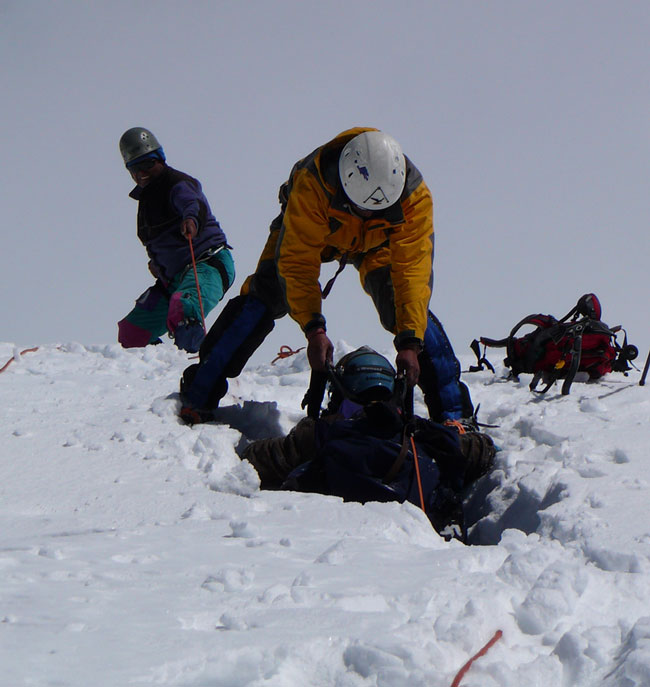 Pulled-from-crevasse-hole