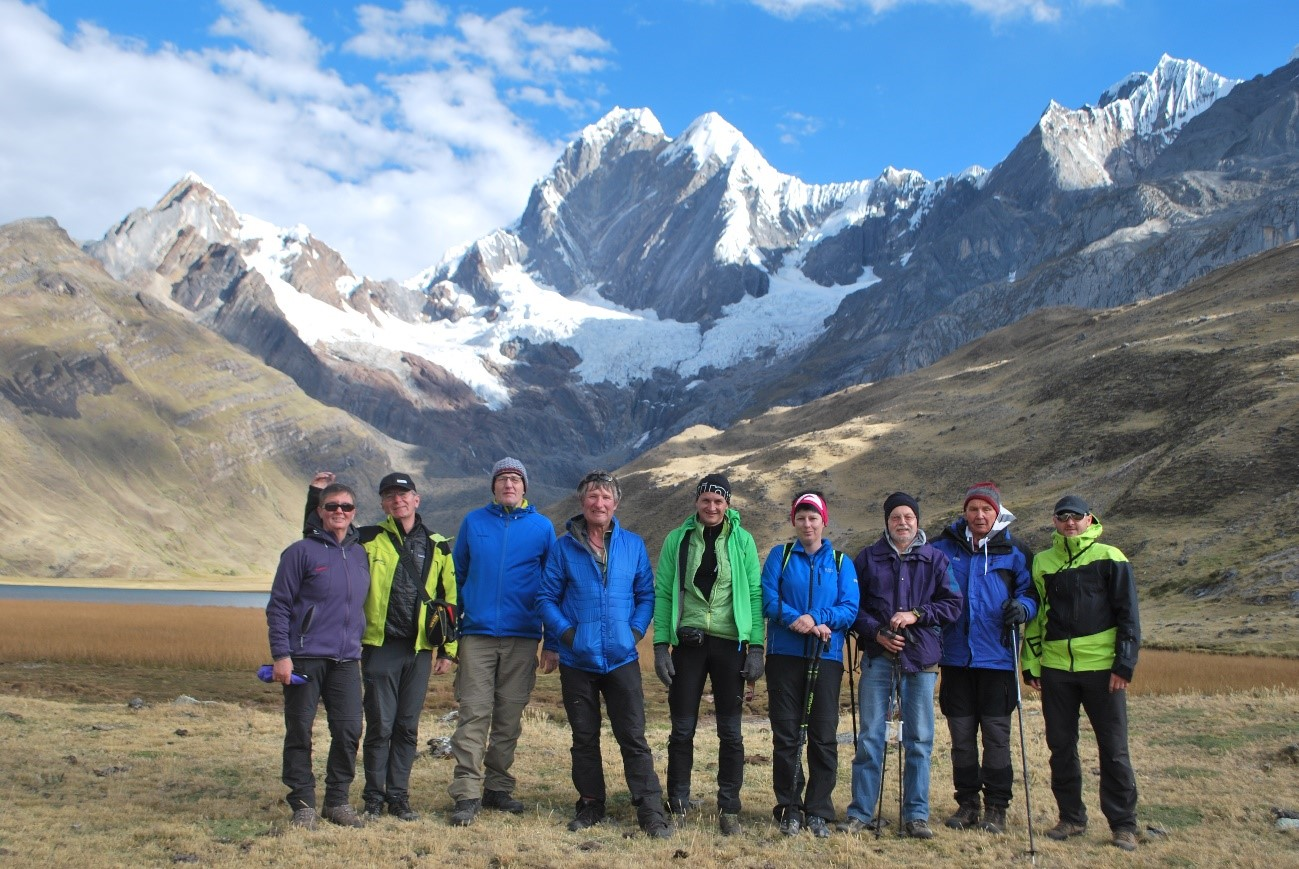 Peru, treks, climbs, hiking, - Group from Austria in Cordillera Huayhuash
